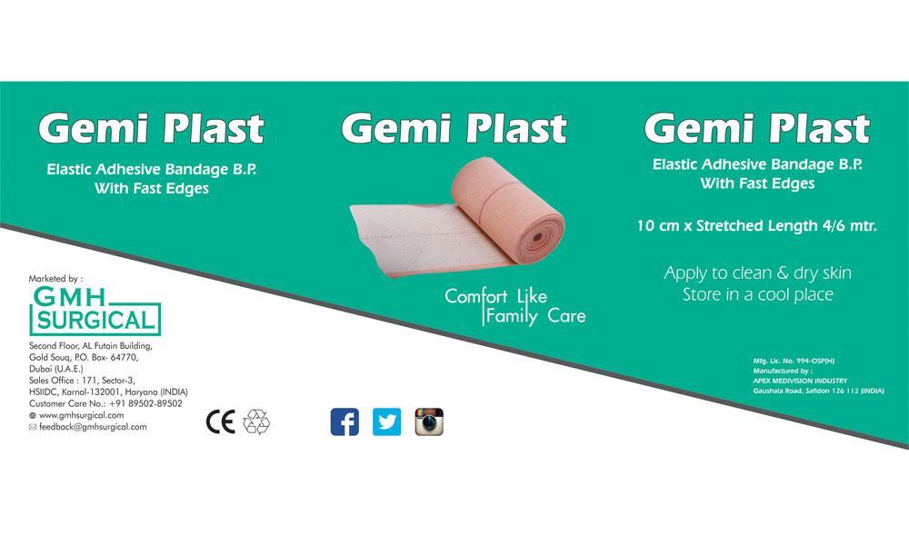GEMI PLAST (ELASTO CREPE BANDAGE)